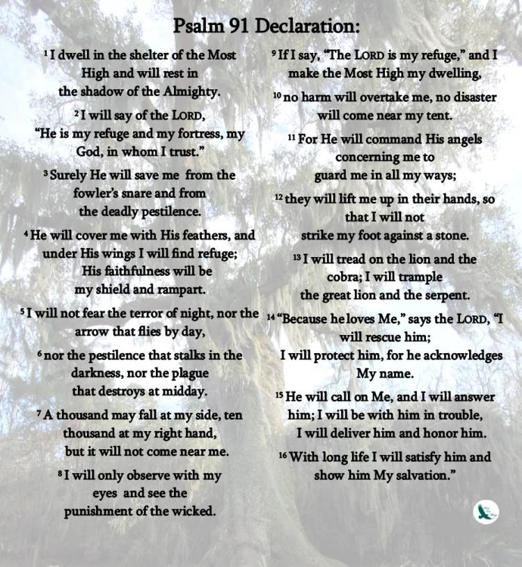 psalm 91 printable tree declare wl